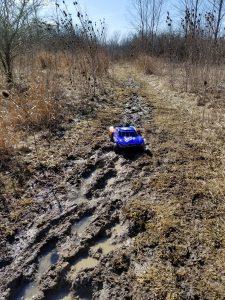 Traxxas Slash on the mud trails