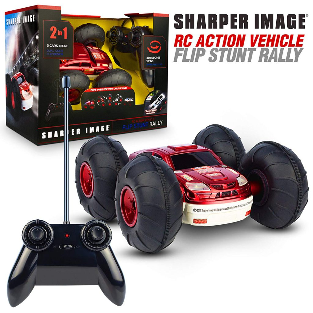 sharper image remote control flip stunt rally car review