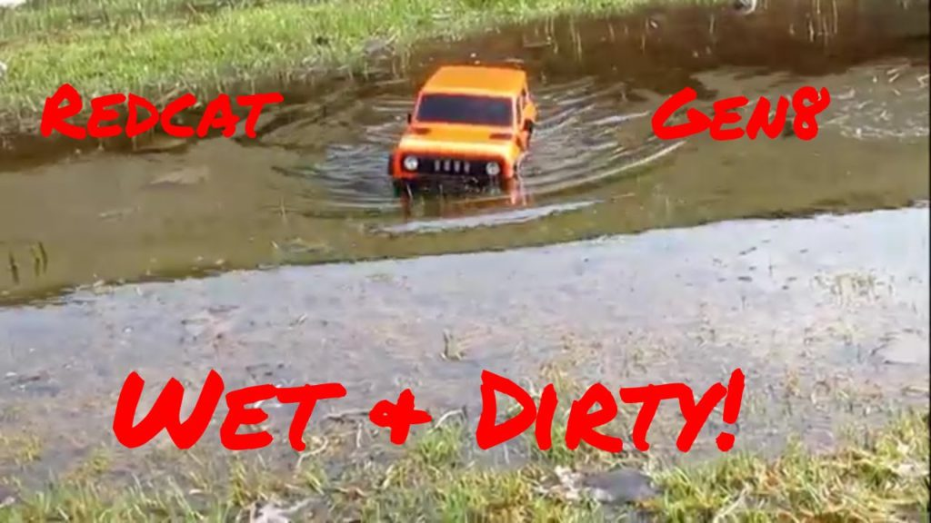 The Redcat Racing Gen8 is waterproof. Redcat Gen8 in mud and water