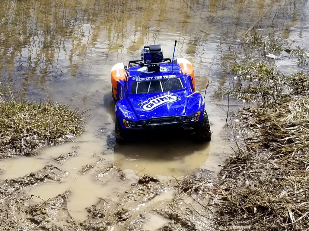 Traxxas Slash in mud