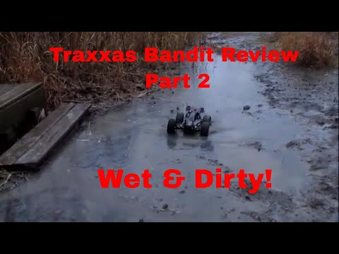 traxxas bandit rc in mud